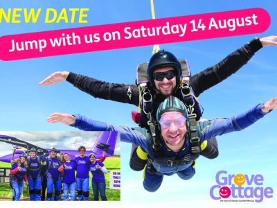 Sky Dive for Grove Cottage!